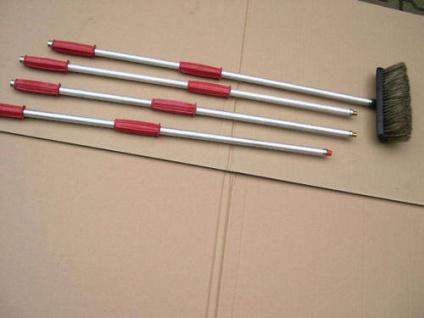4mtr. Profi Waschbürste mit Wasserdurchlauf für Auto LKW Track Fenster Dach