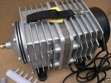 Profi- Teichbelüfter 6600 L/h Kolbenkompressor Belüfter