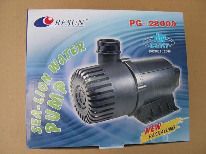 Resun Teichfilterpumpe 28000 L/H Filterspeisepumpe Wasserfall- u Bachlaufpumpe
