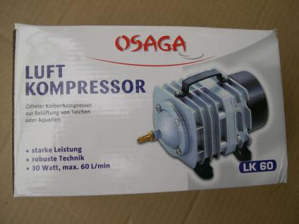 Profi - Teichbelüfter Sauerstoffpumpe 3600 L/h Teichbelüfter Luftpumpe Belüfter