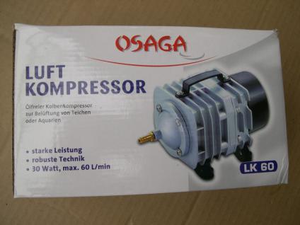 Teichdurchlüfter Durchlüfter Sauerstoffpumpe 3600 Liter/h für Ausströmer Teich
