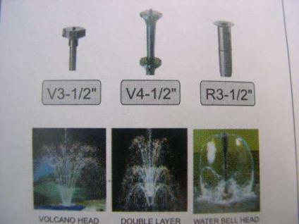 R Springbrunnenpumpe King3F 2400 l/h Bachlaufpumpe - Vorschau 3