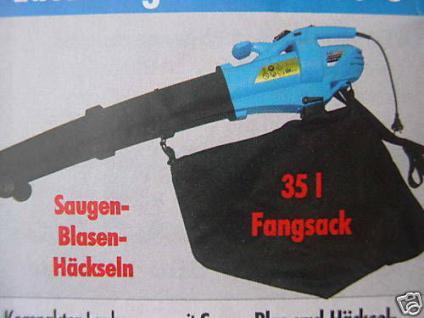 Elektrischer Laubsauger Laubgebläse Laubhäcksler 230 V - Vorschau