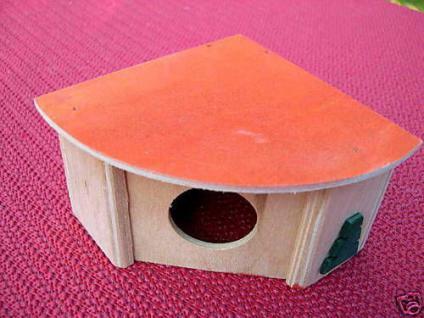 Hamster Maus Versteck Haus Eckhaus Holz Höhle N30