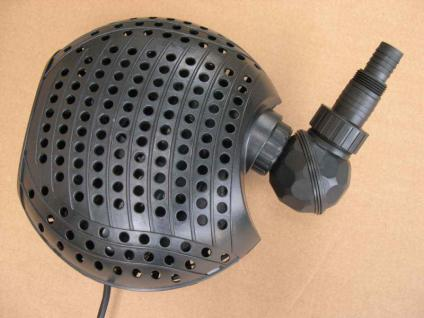Teichpumpe 11000 L/h Teichfilter - Pumpe Filterpumpe Bachlauf- u Wasserfallpumpe