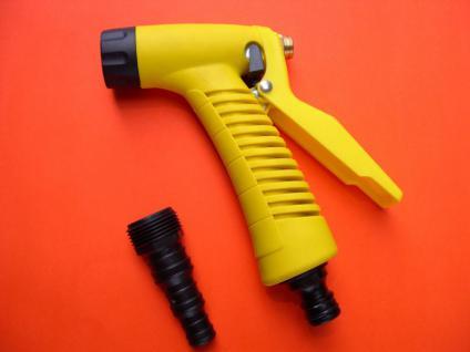 Handwaschpistole bis 7bar/60°C Gußgehäuse Messing-Ventil Gardena Schlauchtülle - Vorschau