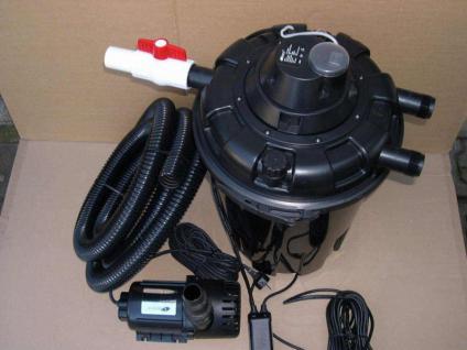 Teichfilter Komplett-Set Druckfilter + 24W UV-Klärer + Filterpumpe PG 8000 L/h