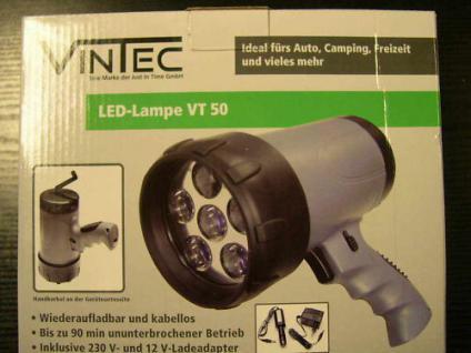 Wiederaufladbare LED Lampe Arbeitslampe Handlampe VT50 - Vorschau
