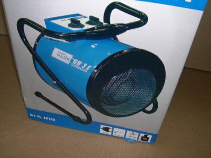 Elektroheizer Heißluftgebläse 3KW/1, 5KW Heizlüfter NEU