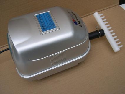 Gartenteich - Luftpumpe Sauerstoffpumpe 3000 l/h Teichdurchlüfter Teichbelüfter