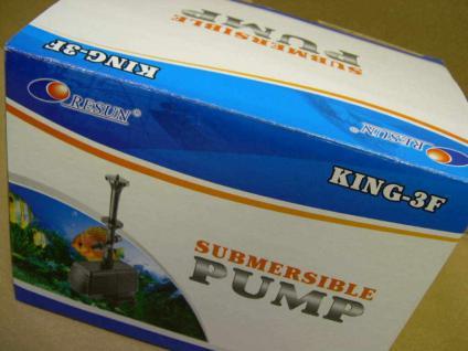 Profi - Bachlaufpumpe King- 3/ F Springbrunnen - Pumpe 2400 l/h Bachlauf Pump