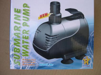 Filterspeisepumpe Teichpumpe 4500 L/h für Gartenteich Wasserfall u. Bachläufe