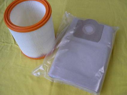 2er-Set Filterelement + Filtertüten Wap Turbo 1001 / Euro Sauger Staubsauger - Vorschau