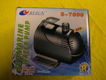 Teichfilter - Pumpe 7000 l / h Bachlauf- , Wasserfall- u- Filterpumpe Filterpump
