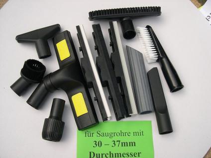 Saugset XXL 11-tlg für Saugrohr von 30-37mm mit Adapter f. Saugdüsen 35mm Sauger - Vorschau