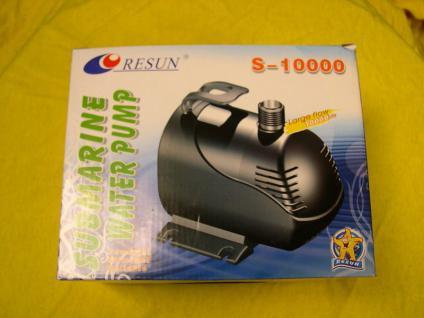 Teichpumpe 10000 ltr./h Filterspeisepumpe Pumpe für Teichfilter oder Bachlauf