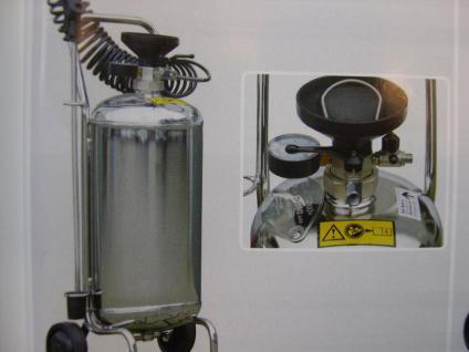 24 Liter Profi Vorsprühgerät aus Edelstahl fahrbar Desinfektionsmittel