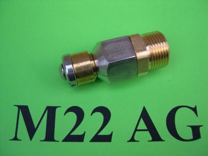 rotierende Rohrreinigungsdüse M22x1, 5 AG für Kärcher u Kränzle Hochdruckreiniger