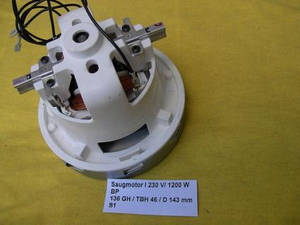 1, 2 KW Saugturbine Motor Turbine einstufig für Hilti VC20 u. VC20U Sauger