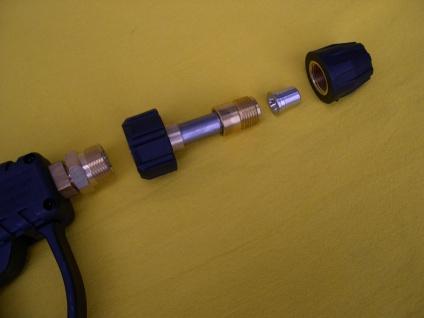 Hochdruckreiniger - Pistole mit Kurz - Lanze für Kärcher Kränzle M22 AG Düse 045 - Vorschau 3