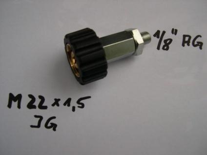 "Adapter M22IG auf MEG 1/8"" AG Wap Alto Nilfisk Kärcher Kränzle Hochdruckreiniger"