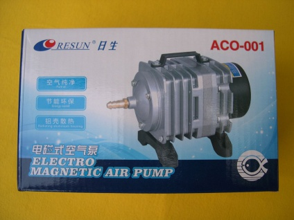 Eisfreihalter Teich - Belüfter 2280 l/h 220V 18 Watt Sauerstoffpumpe Durchlüfter
