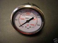 """Manometer 250b 1/4"""" für Kärcher Wap Alto Stihl und andere Hochdruckreiniger"""