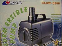 Resun Bachlauf- u Teichfilterpumpe 8500 l/h Filterpump Wasserfallpumpe Teich