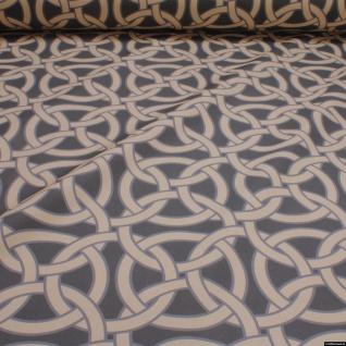 Stoff Baumwolle Rips Geometrie Kreis breit Öko-Tex Standard 100 280 cm breit
