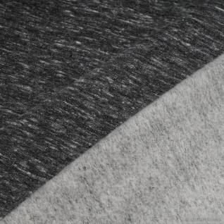 0, 5 Meter Baumwolle Polyester Elastan Single Jersey grau angeraut Winter-Sweat - Vorschau 4