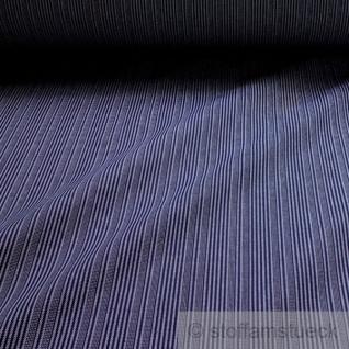 10 Meter Stoff Baumwolle Stresemann Streifen dunkelblau weiß Stresemannstreifen