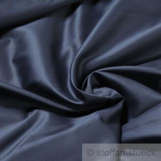 Stoff Baumwolle Satin marine überbreit 3 m breit mercerisiert Baumwollstoff blau dunkelblau