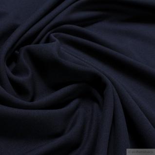 0, 5 Meter Stoff Baumwolle Elastan French Terry dunkelblau Jersey