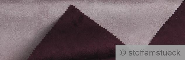Stoff Polyester Kunstleder Wildleder double face flieder violett Wildledermantel