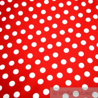 Stoff Baumwolle Punkte groß rot weiß Tupfen Dots Baumwollstoff - Vorschau 2