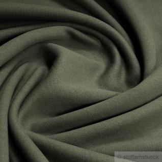 0, 5 Meter Baumwolle Single Jersey khaki oliv angeraut Sweatshirt weich kbA GOTS