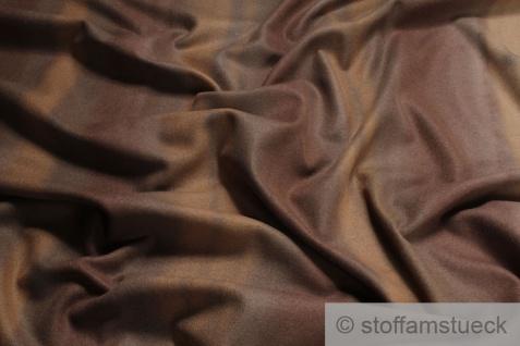 Stoff Wolle Polyamid braun cappuccino streifig angeraut Polsterstoff Vorhang - Vorschau 1
