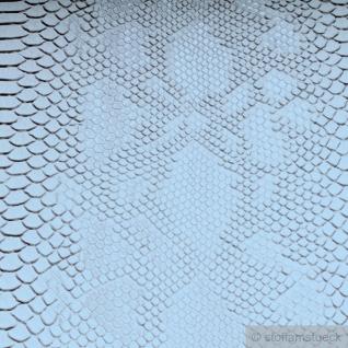 Stoff PVC Kunstleder Krokodil weiß leicht glänzend - Vorschau 3