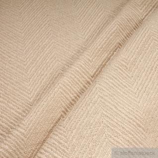 Stoff Leinen Baumwolle Polyester Fischgrat natur Polster 35.000 Martindale beige