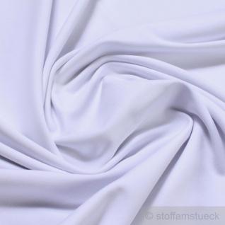 0, 5 Meter Stoff Baumwolle Elastan Single Jersey weiß T-Shirt weich dehnbar