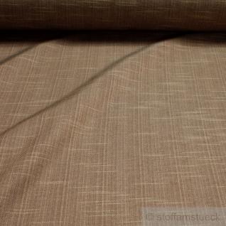 Stoff Polyester Baumwolle Rips cappuccino Flammgarn pflegeleicht braun