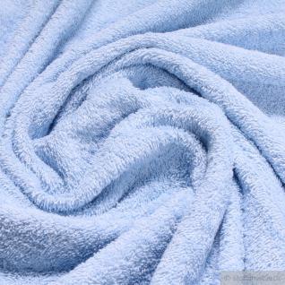 Stoff Baumwolle Frottee hellblau Frotté zweiseitig Baumwollstoff weich