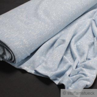 0, 5 Meter Baumwolle Polyester Nylon Lurex Single Jersey hellblau Glitzer Glitter