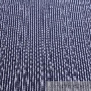 Stoff Baumwolle Stresemann Streifen dunkelblau weiß Stresemannstreifen stabil - Vorschau 2