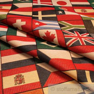 Stoff Baumwolle Polyester Gobelin Flagge Brasilien Deutschland USA Japan