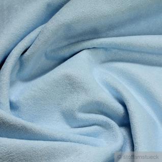 Stoff Baumwolle Bambus Frottee hellblau Wickelauflage Wickeltischauflage blau