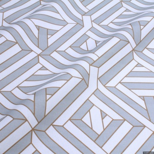 Stoff Baumwolle Rips Geometrie Raute - Vorschau 2