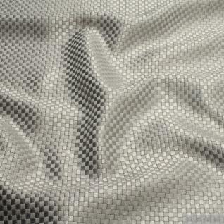 Stoff Viskose Baumwolle Panama silber Polsterstoff 40.000 Martindale