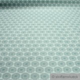 Stoff Baumwolle Acryl Pusteblume türkis wasserabweisend beschichtet
