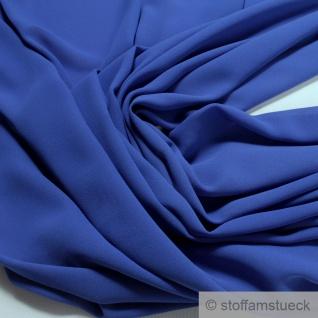 Stoff Polyester Crêpe de Chine leicht blau knitterarm